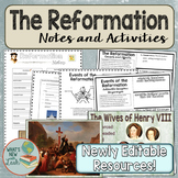 Reformation Cloze Note, PowerPoint, and Tickets out the Door