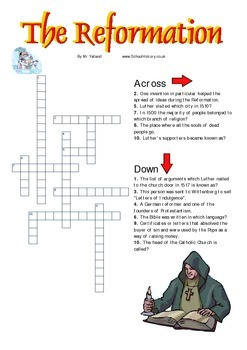 Reformation Crossword