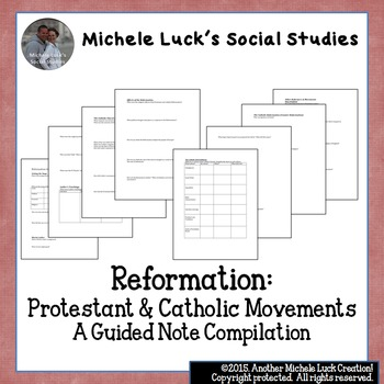 Reformation Guided Notes for Protestant and Catholic Movements