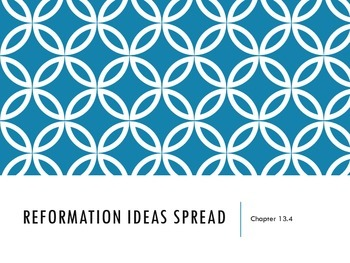 Reformation Ideas Spread