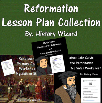 Reformation Lesson Plan Collection