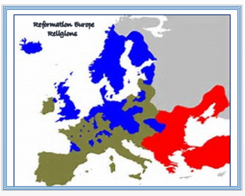 Reformation - Map Activity Assessment