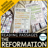 Reformation - Martin Luther  Reading Passages - Questions - Annotations