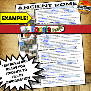 Reformation Notes Two Pager with Fill-able Graphic Organizer