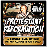 Protestant Reformation Complete Unit Lesson Plan Note and