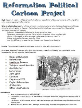 Reformation Political Cartoon Project