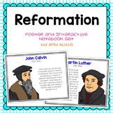 Reformation Poster and Interactive Notebook INB Set