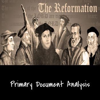 Reformation Primary Document Analysis