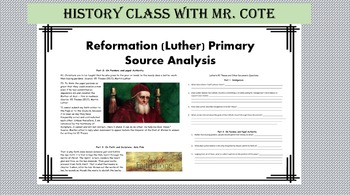 Reformation Primary Source analysis