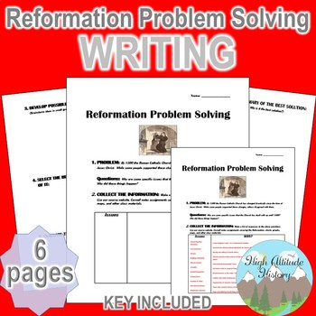 Reformation Problem Solving Writing Assignment