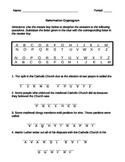 Reformation Puzzle Worksheet (Cryptogram)