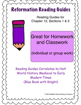 Reformation Reading Guides for Holt Textbook