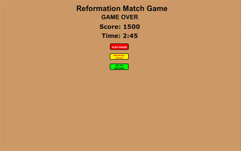 Reformation Review and Match Game - Bill Burton