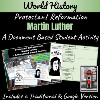 Reformation: What were Luther's arguments (In his own words) DBQ worksheet