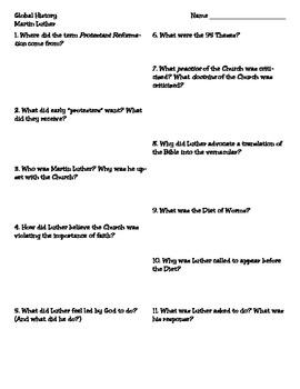 Reformer: Martin Luther