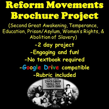 Reforms Project Great Awakening, Temperance, Workers' Righ