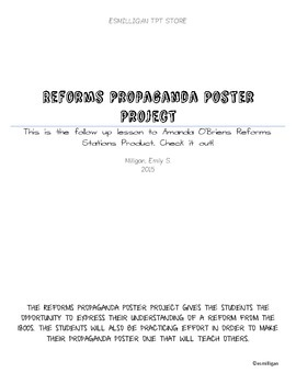 Reforms Propganda Poster Project