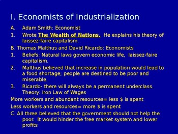 Reforms of Industrialization Powerpoint