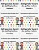 Brag Tags for Upper Elementary-- Refrigerator Award Version