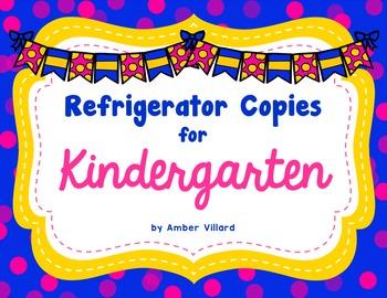 Refrigerator Copies {Kindergarten} Editable