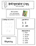 Refrigerator Copy D'nealian Style {Kindergarten Scott Foresman Reading Street}