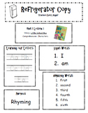 Refrigerator Copy {Unit 1-6 Kindergarten Scott Foresman Reading Street} EDITABLE