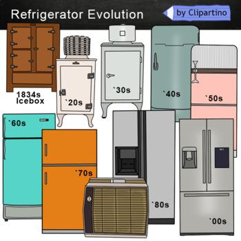 Refrigerator Evolution Clipart