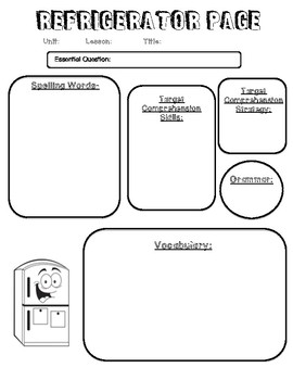 Refrigerator Page Template