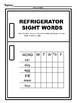 Refrigerator Sight Words Nouns