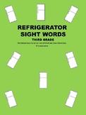 Refrigerator Sight Words Third Grade