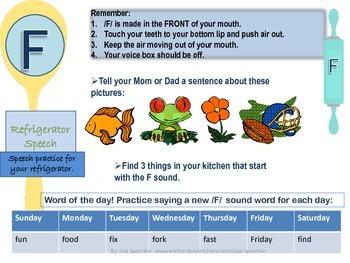 Refrigerator Speech Practice for /f/