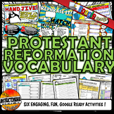 Protestant Reformation Interactive Vocabulary Activity Set