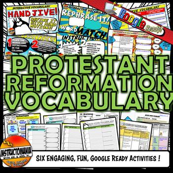 Reformation Vocabulary Set