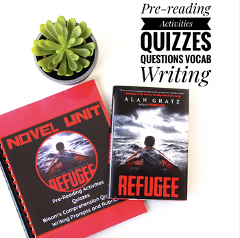 Refugee Alan Gratz Novel FULL UNIT: Journal, Tests, Vocab, Parent Letter, Essays
