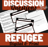 Refugee Alan Gratz Higher Level Journal Questions/ Read Aloud Discussion