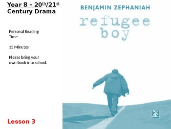 Refugee Boy Lesson 11 - Assessment Feedback and Re-Write