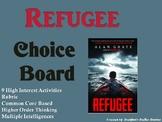 Refugee Choice Board Novel Study Activities Menu Book Proj