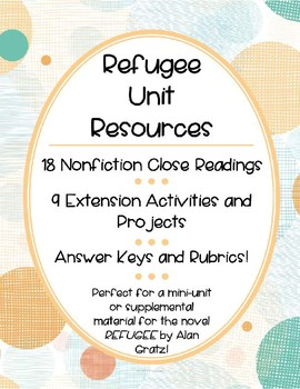 Refugee Experience: Mini-Unit, Nonfiction Close Readings, Activities, Projects