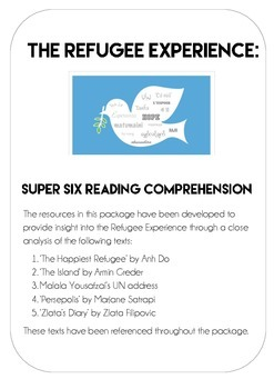 Refugee Experience - Reading Comprehension and Literacy tasks