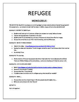 Refugee Monologue : Syria or other