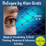 Refugee by Alan Gratz: Critical Thinking and Response Activities: Week 3