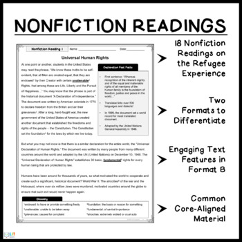 Refugee by Alan Gratz: Nonfiction Close Readings, Questions, Activities