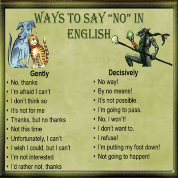 """Refusal – How to say """"NO"""" in English - Cross culture- ESL adult conversation"""