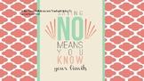 Refusal Skills- Saying No
