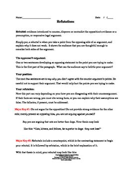 Refutation Exercises