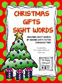 Christmas Gifts Sight Words- Building Sight Words