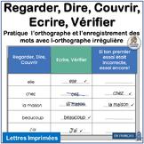 Core French Sight Words |  Regarder, Dire, Couvrir, Ecrire, Vérifier