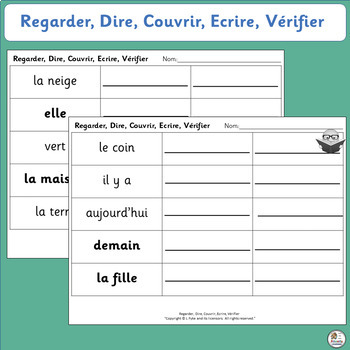 French: Regarder, Dire, Couvrir, Ecrire, Vérifier - Learn sight words! SASSOON)