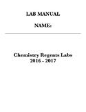 Regents Chemistry Lab Manual