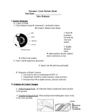 Regents Earth Science: Dynamic Earth Review Sheet